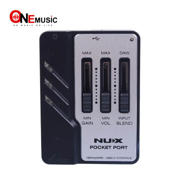 NUX Pocket Port Portable Guitar USB Audio Interface designed for guitar recording!