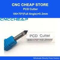 6mmx70Degreex0 2mm V Carve Diamond PCD Tool Router Bit CNC End Mill Set PCD Diamond CNC