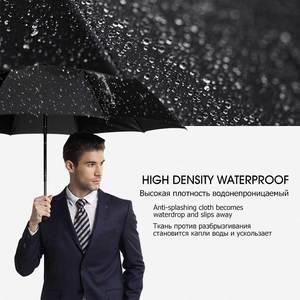Image 4 - רוח עמיד מלא אוטומטית מטריית גשם נשים לגברים 3 מתקפל מתנה שמשייה קומפקטי גדול נסיעות עסקים רכב 10K מטרייה