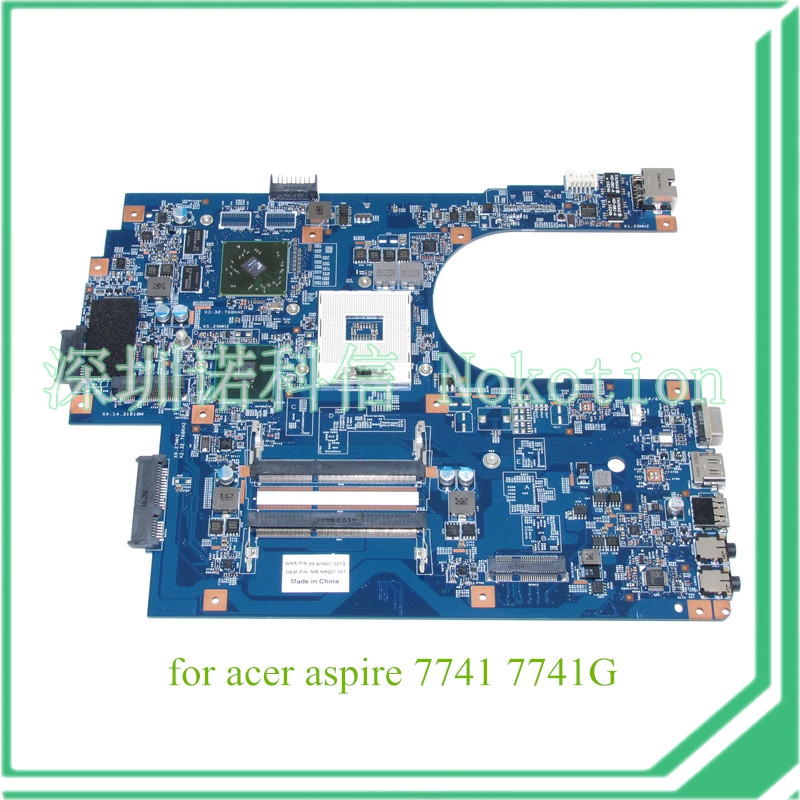 NOKOTION JE70-CP MB 09923-1M 48.4HN01.01M MB.N9Q01.001 MBN9Q01001 For acer aspire 7741 7741G motherboard HM55 DDR3 ATI HD 5470 mb psm06 001 mbpsm06001 for acer aspire 4745 4745g laptop motherboard hm55 ddr3 ati hd5470 512mb discrete graphics mainboard