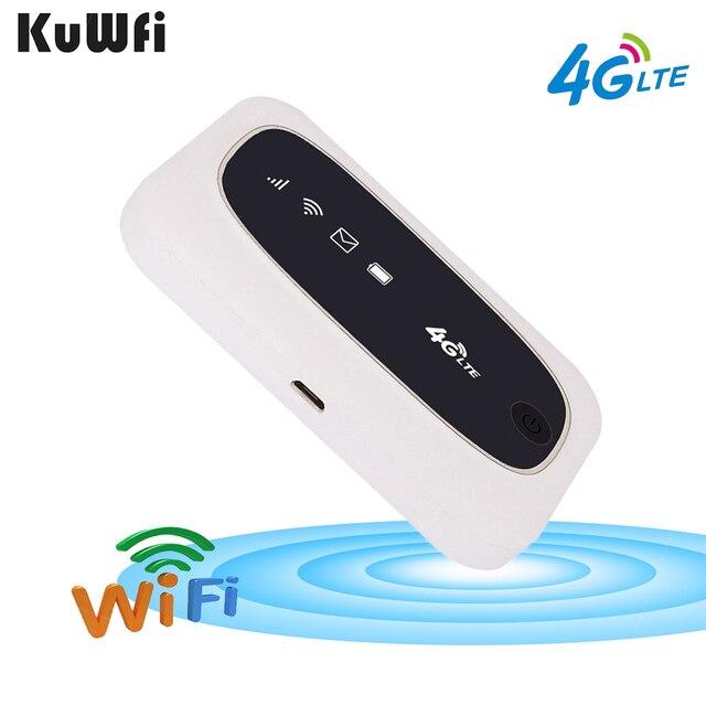 KuWFi 4G Wi Fi маршрутизатор 4G FDD/аппарат, который не привязан к оператору сотовой связи, маршрутизаторы LTE 150 Мбит/с карманный роутер Wifi мини Беспроводной маршрутизатор и Беспроводной модем с SIM/Слот для карты SD