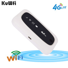 KuWFi 4G Wifi Router 4G FDD/TDD LTE Routers 150Mbps Pocket Wifi Mini Wireless Router&Wireless Modem With SIM/SD Card Slot quectel ec20 lte 4g module full netcom streamlined version without gps tdd fdd