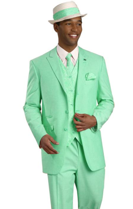 New Design Mint Green Groom Tuxedos Casual Blazer 2 Piece Mens Beach ...