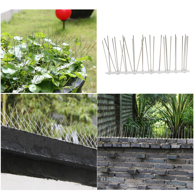 2.5M PC Plastic Bird and Pigeon Spikes Anti Bird Anti Pigeon Spike for Get Rid of Pigeons and Scare Birds
