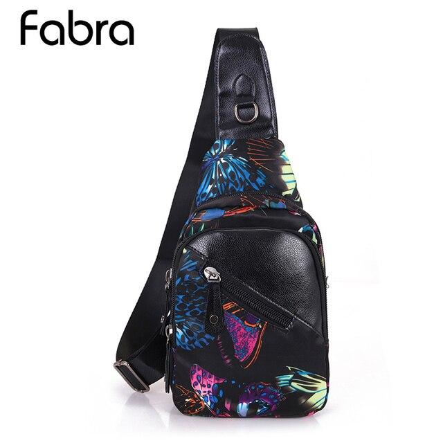 Fabra Women Chest Pack Leisure Travel Sling Bag Waterproof Nylon Print Shoulder Bag Chest Crossbody Sling Bag Pack for Women