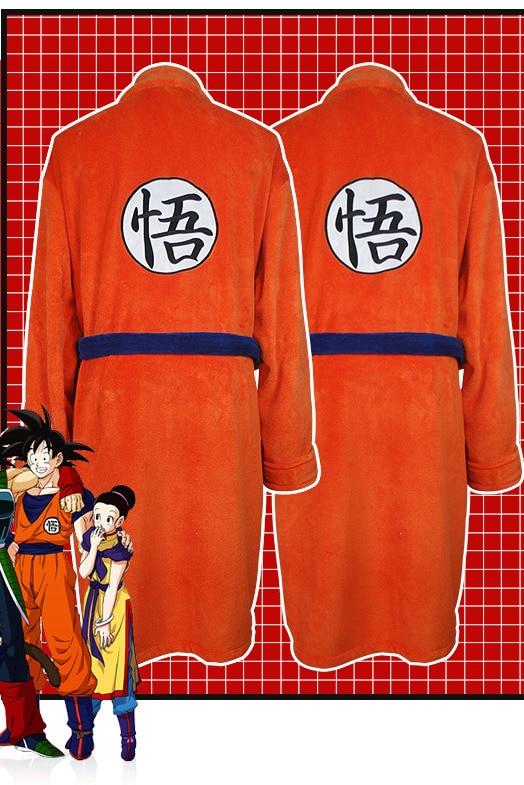 Anime Dragon Ball Thermal Flannel Bathrobe Autumn Winter Men Women Cosplay Pajamas Goku Thick Kimono Robe Costumes Dressing Gown