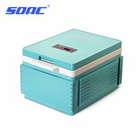 SOAC Cooling Box 12B Portable Mini Large Capacity Car Electric Fridge Travel Refrigerator Car Cooler&Warmer Heating Cooling 12V