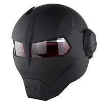 VCOROS đầy đủ mặt xe helmet cá tính IronMan siêu nhân và transformers với Sun Khiên Mở Mặt xe máy mũ bảo hiểm