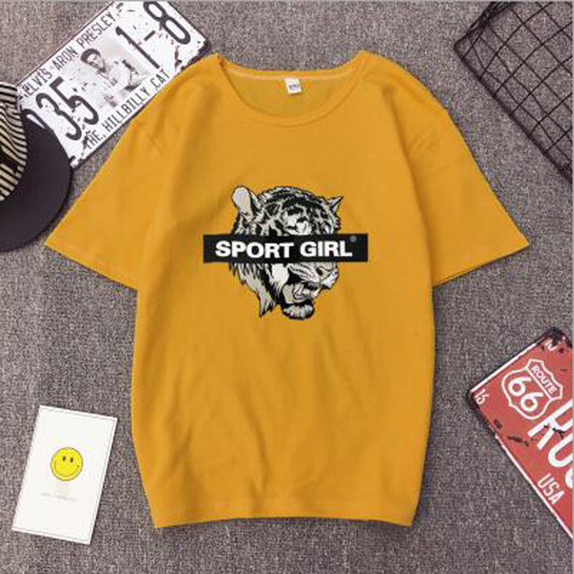 Hot Selling Women Tshirt European American Print Short Sleeve O Neck Cotton Spandex T shirts Women Casual Slim Tee shirt Femme
