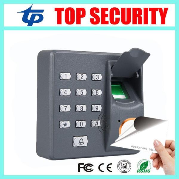 все цены на Free shipping standalone fingerprint reader with 125KHZ RFID card reader dustproof fingerprint access control door control X6