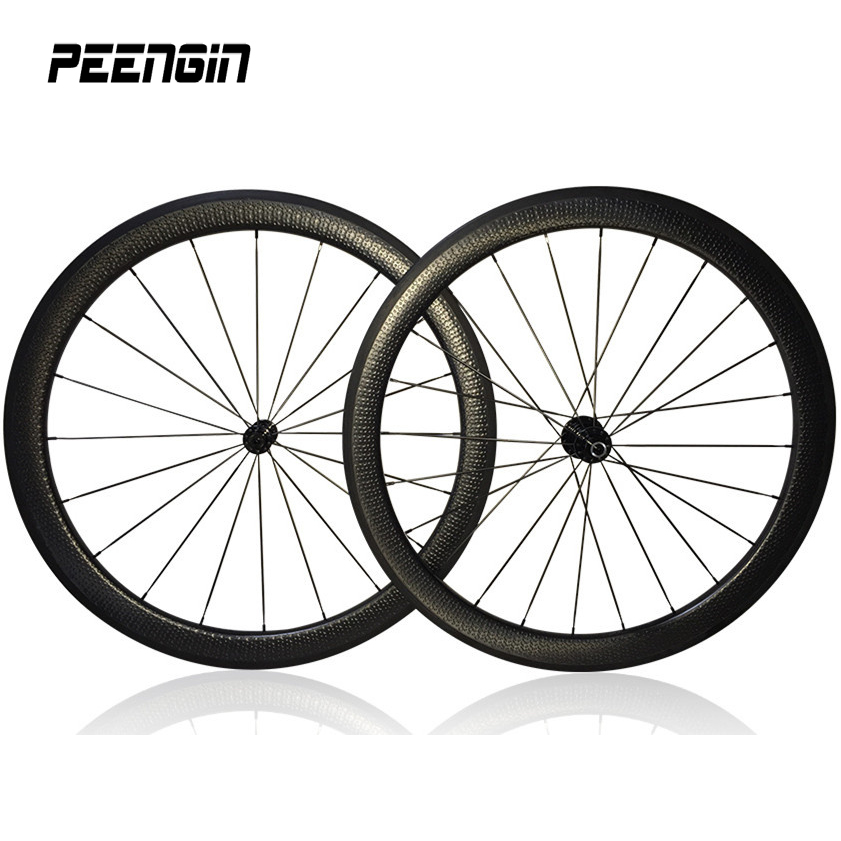 Special appearance carbon dimple wheels road bike 45/58mm tubular-clincher wheelset golf surface Powerway R13 hub 9/10/11 speeds стоимость