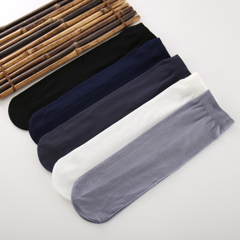 High Quality New Arrival Brand 10 Pairs/lot Men Socks Cotton & Bamboo Fiber Classic Business Mens Socks Deodorant Dress Socks