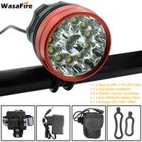 12 LED 2 In 1 Headlight 20000Lumens 12x XM L T6 LED Bicycle Light Cycling Bike