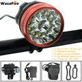 12 LED 2 in 1 Koplamp 20000 Lumen 12x XM-T6 LED Fiets Licht Fietsen Bike Head Lamp + 9600 mah 18650 Batterij + Lader