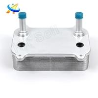 Trocador de calor do Radiador de Óleo Do Motor para 2003-2006 Porsche Cayenne Turbo S 4.5L V8 94810727603 94810727602