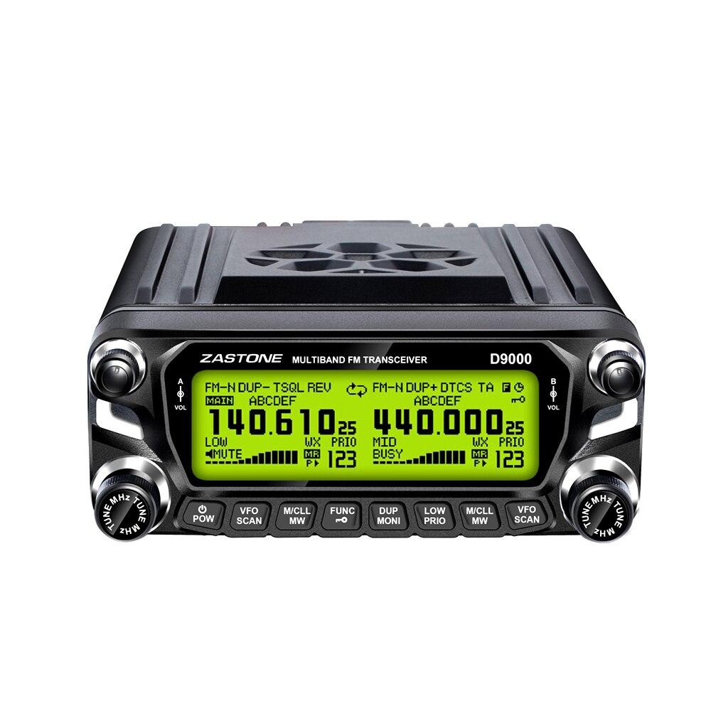 imágenes para Original Walkie Talkie Zastone D9000 50 W Coche 50 km Bandas Duales Comunicador de Radio Móvil VHF UHF Transceptor de HF CB Estación de Radio