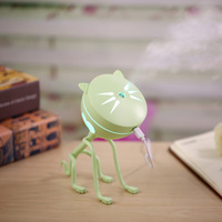 USB Mini Cartoon Cat Humidifier With Night Lamp Car Vehicle Animal Silent Air Purifier Aroma Diffuser