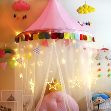 Play Tent Teepees Kids With Mosquito Net Lovely Girls Pink Princess Castle Playhouse for Children Christmas Gift