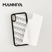 MANNIYA 2D סובלימציה מזג זכוכית גומי טלפון מקרה עבור iphone XS XR XS מקסימום 11/11 PRO/11 PRO מקסימום משלוח חינם! 100 יח\חבילה