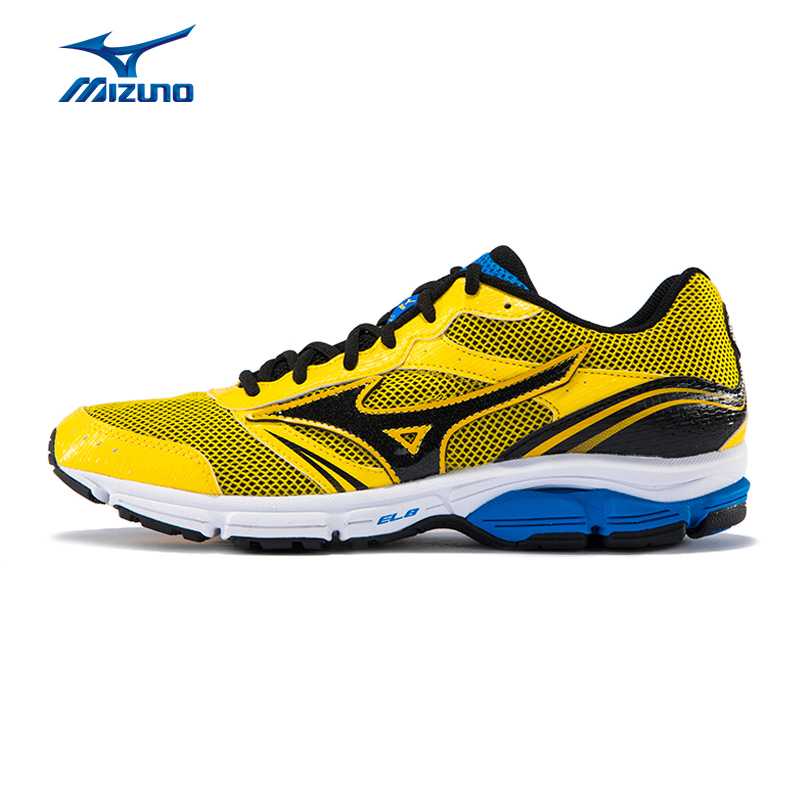 MIZUNO Men WAVE IMPETUS 3 Jogging Running Shoes Mesh Breathable Sneakers Light Weight Cushion Sport Shoes J1GR151305 XYP499 point break children weight running shoes men breathable mesh jogging shoes tide travel shoes