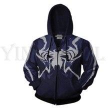 Men and Women Zip Up Hoodies Venom Spiderman 3d Print Hooded Jacket Mravel 4 Movie Superheroes Sweatshirt  Streetwear Costume цены