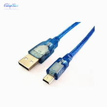 50Pcs 30cm USB Male to T-type 5P Mini USB Male USB2.0 Extension Data Cable Line Wire
