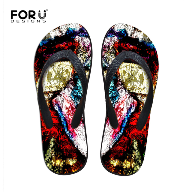 0f9f21ee29e Stylish Men Flip Flops Brand Fashion Beach Shoes for Men Graffiti Men s  Flat Slippers Sandalias Masculina Summer Male Sandals