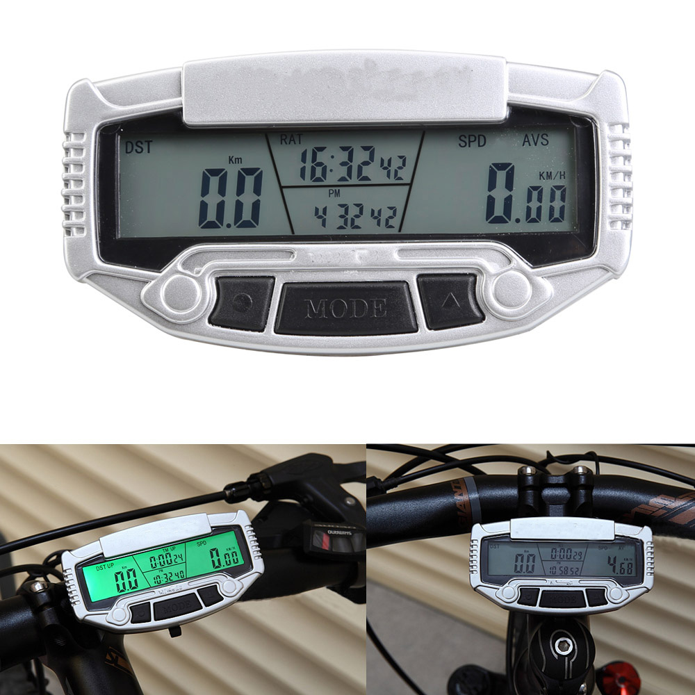Digital LCD Backlight Road Bike Computer Speedometer