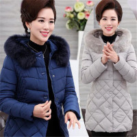 Ladies Parkas Women Large Fur Collar Female Warm Winter Coat Outwear Elegant Thick Padded Cotton Coat