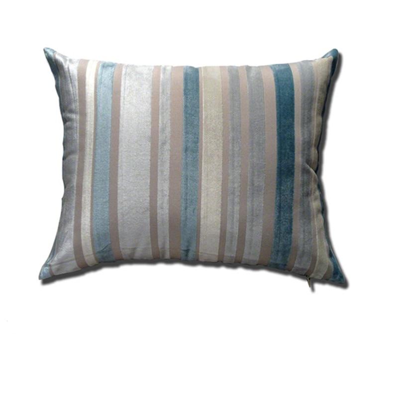 Cuscini A Righe Per Divani.Rettangolare Cuscino Copre Blu A Righe Cuscino Copre Divano Estate