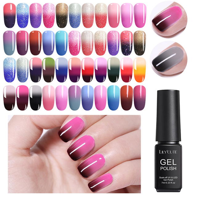 LILYCUTE 7ml Thermal Ultra-thin Glitter 3 Colors