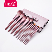MSQ 12PCS Makeup Brush Sets Powder Eyeshadow Lip Blush Make up Brushes Kits Synthetic High Quality Hair Beauty Tools