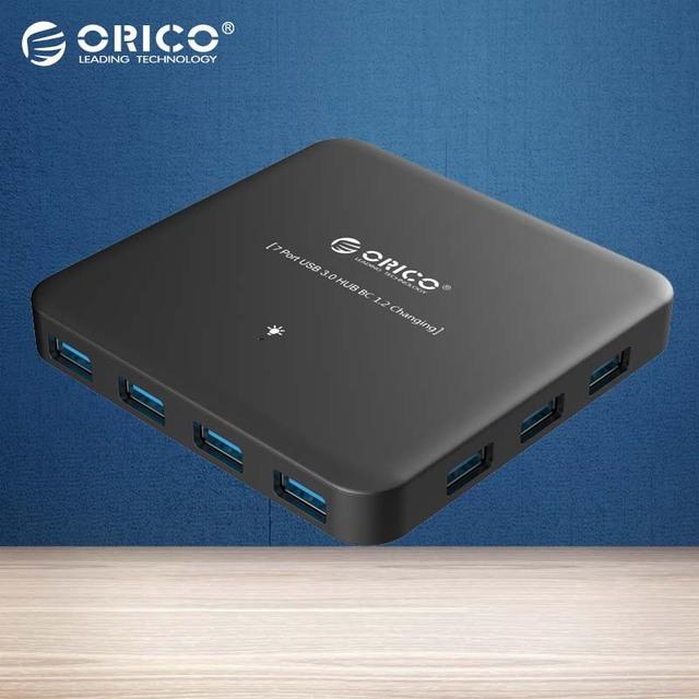 ORICO ABS 7-Port HUB Super Velocidade USB 3.0 HUB Adapterfor Poder BC1.2 Tarifação Inteligente Smartphone, comprimidos-(U3BCH7-BK)