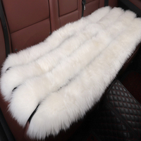 Australia Sheepskin Long Wool Comfortable Warm Soft Cover Chair Cushion Rear Car Seat Lamb White
