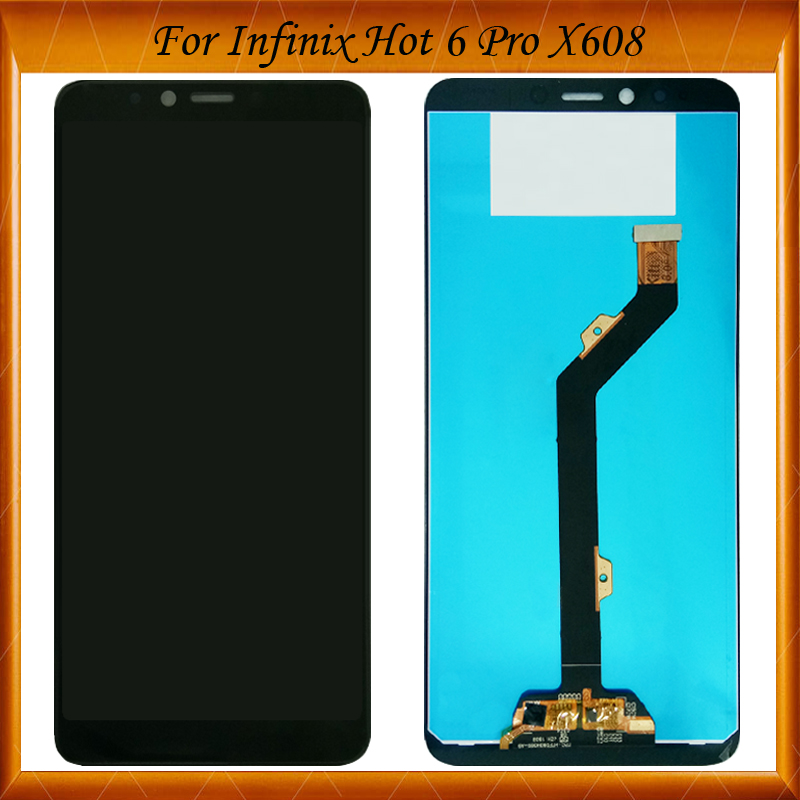 US $19 98 |100% Working Well For Infinix Hot 6 pro X608 LCD display +Touch  Screen Digitizer Replacement For Infinix X608 LCD phone-in Mobile Phone LCD