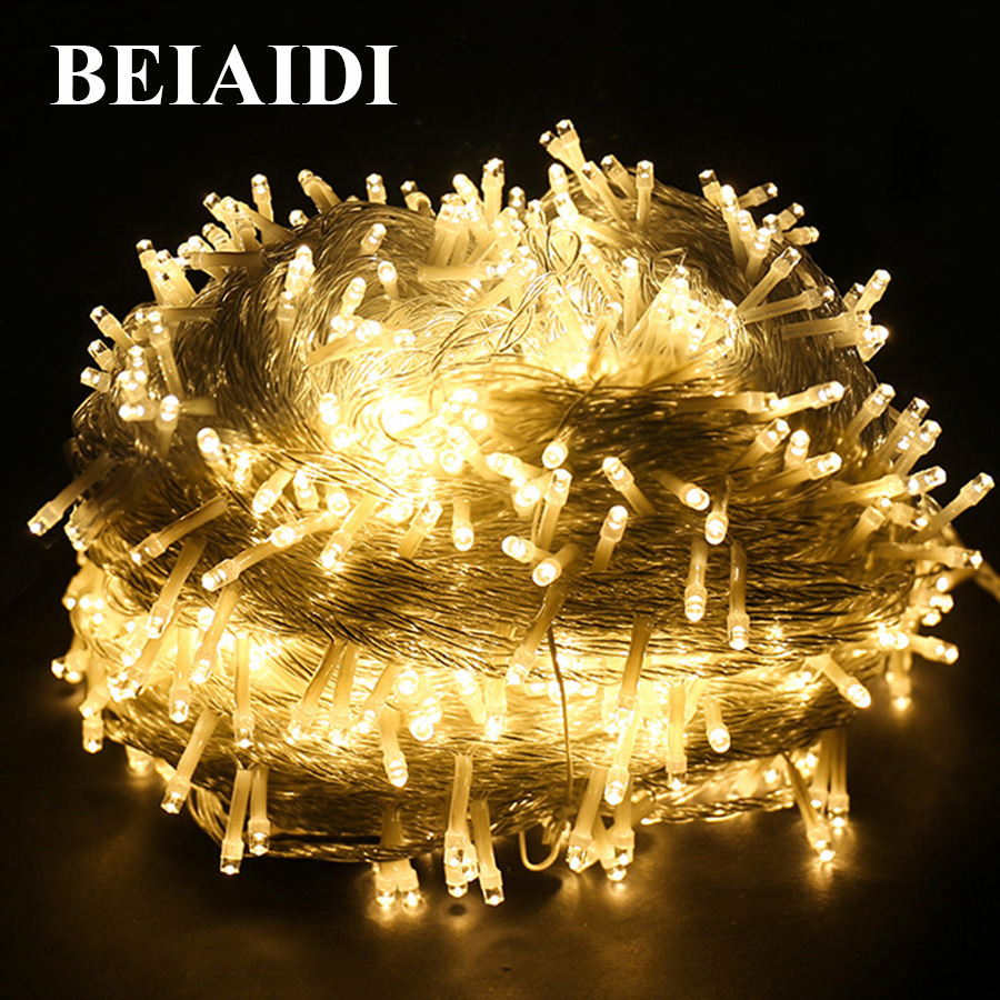 BEIAIDI 100M 800 Outdoor Garden LED String Fairy Light Waterproof Christmas Wedding Party Twinkle Holiday Fairy Light Garland-in LED String from Lights & Lighting    1