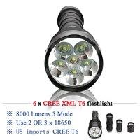 lampe torche powerful led flashlight cree xml t6 lantern flash light 3 18650 battery charger lamp waterproof camping linterna