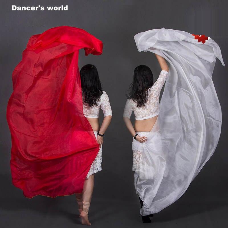Commercio all'ingrosso di danza del ventre velo delle ragazze velo di seta per le donne accessori del ballerino di danza del ventre spettacolo di danza del ventre veli M/L