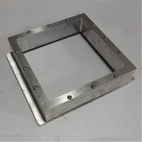 DIY SLA DLP 3D printer parts 115 *115 mm aluminum alloy Resin Tank High transmittance quartz glass resin tank