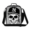 Skull lunch cooler bags for Children,Boys Insulated Lunch Bags for School,cool lunch bags for kids,mens lunch container for work