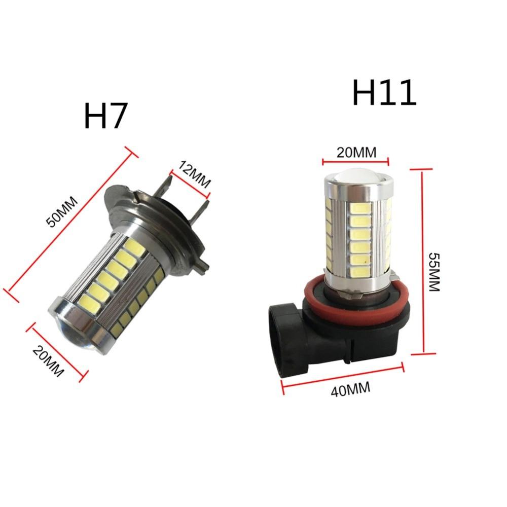 H7 LED 33SMD висока мощност дневна - Автомобилни светлини - Снимка 3
