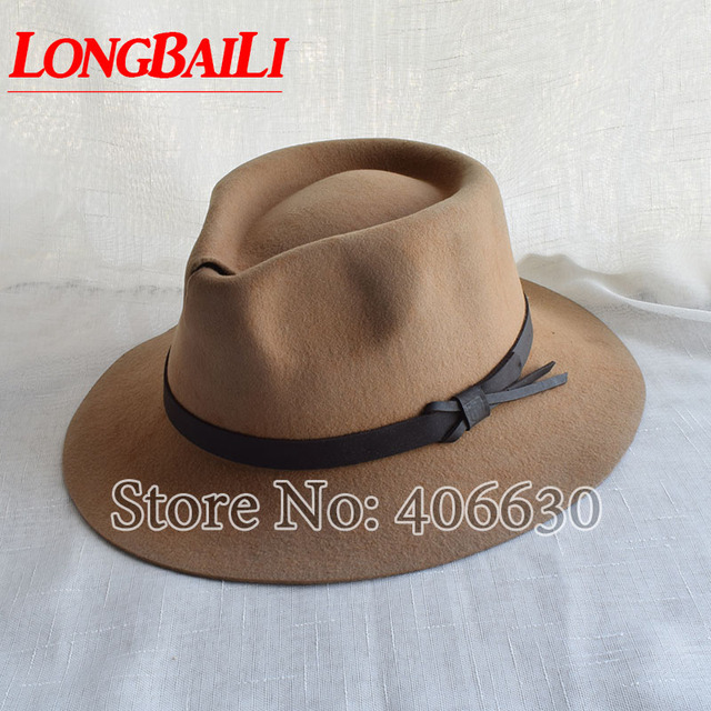 68315e9de22dcc Winter Trendy Wide Brim Wool Felt Fedora Hats For Men Chapeu Masculino  Panama Trilby Caps Free Shipping PWFE015