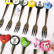 BTS Stainless Steel Spoon And Fork