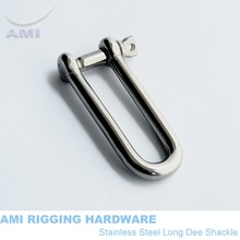 6mm Long D standard shackle stainless steel 316 dee shackle SS316 marine hardware boat hardware rigging hardware