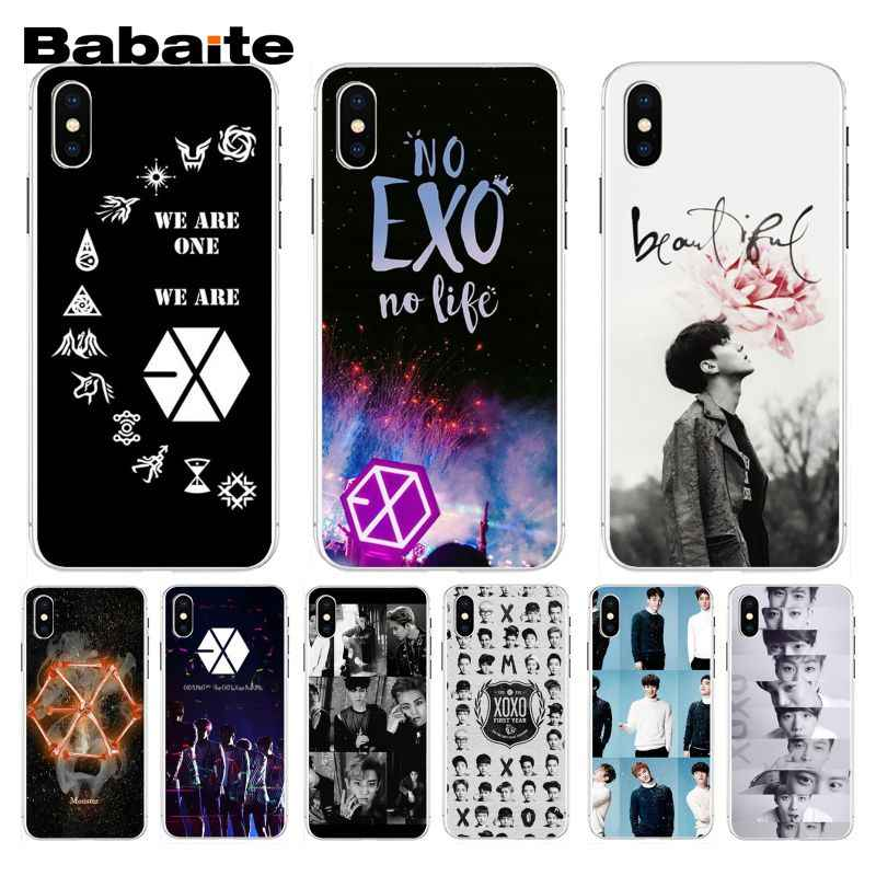 Babaite Kpop Exo Lucky One Lovely Excellent Phone Case For Iphone 7 7plus X 8 8plus And 5 5s 6s 6s Plus Mobile Phone Case Aliexpress