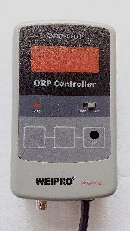 Compteur et contrôleur d'orp d'aquarium WEIPRO ORP-3010, fonctionnant avec ozoniseur, version 110 v et 220 v, avec prise de courant universelle