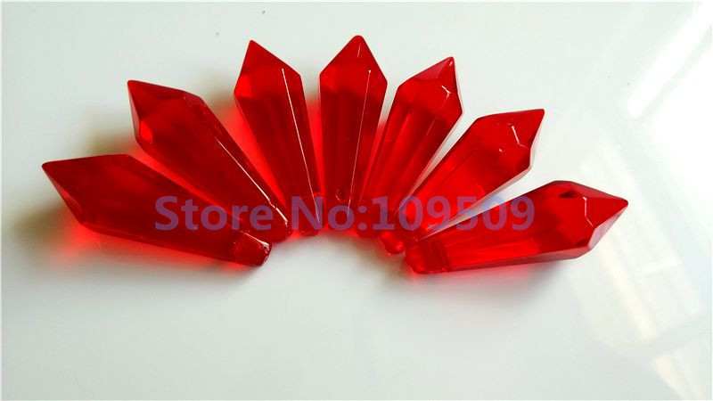 72pcs Chandelier Crystal parts 38mm Blood Red Icicle Chandelier Crystal U Drop Prisms X 39 MAS Wedding Pendant Free Shipping in Chandelier Crystal from Lights amp Lighting