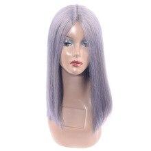 Формочки в форме кружева для шоколада часть ручной работы серый Remy человеческих волос парик бразильский прямой u-образный парик шнурка для женщин ежедневного серебристого цвета