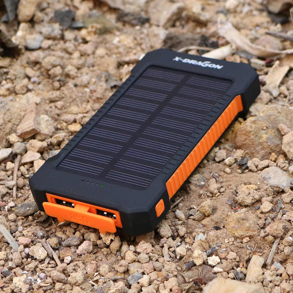 Solar Power Bank 30000 Dual USB Output Solar Charger untuk iPhone 6 6 S 7 8 iPhone X XR XS max Samsung S10 Galaxy Note 8 9 10.