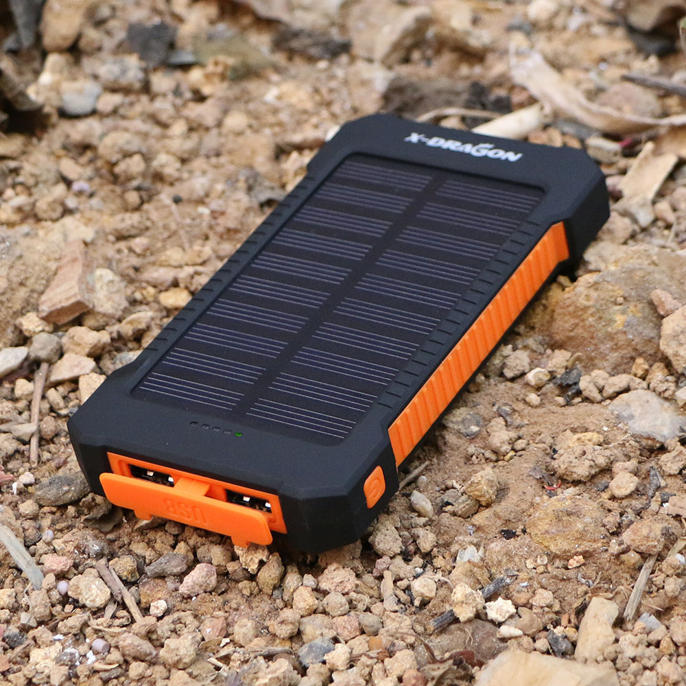 10000mAh Power Bank Solar Power Bank Solar Powerbank Phone External Battery Solar Backup Battery for Phones Tablets Speaker etc.
